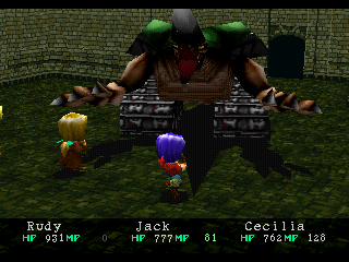 Wild Arms PlayStation Whoa! Fighting a tank-like monster!..