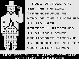 3D Monster Maze ZX81 Roll Up, Roll Up.