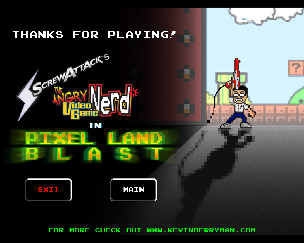 The Angry Video Game Nerd In Pixel Land Blast Screenshots For