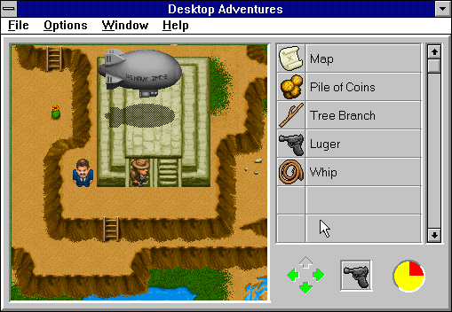 Indiana Jones and his Desktop Adventures Windows 3.x Some locations aren't accessible on foot...