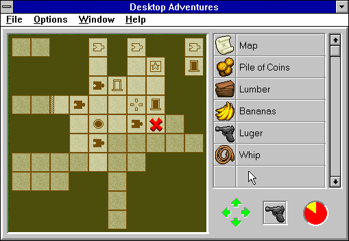 Indiana Jones and his Desktop Adventures Windows 3.x One of your first goals should be finding the map.