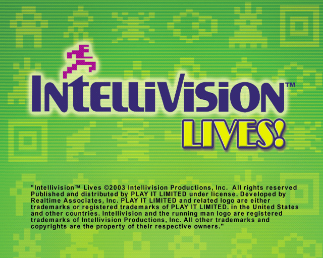 Intellivision Lives! PlayStation 2 The game's title screen