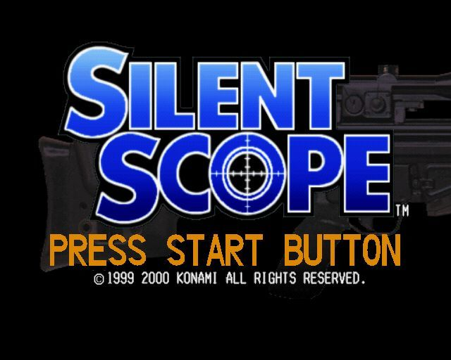 Silent Scope PlayStation 2 The game's title screen