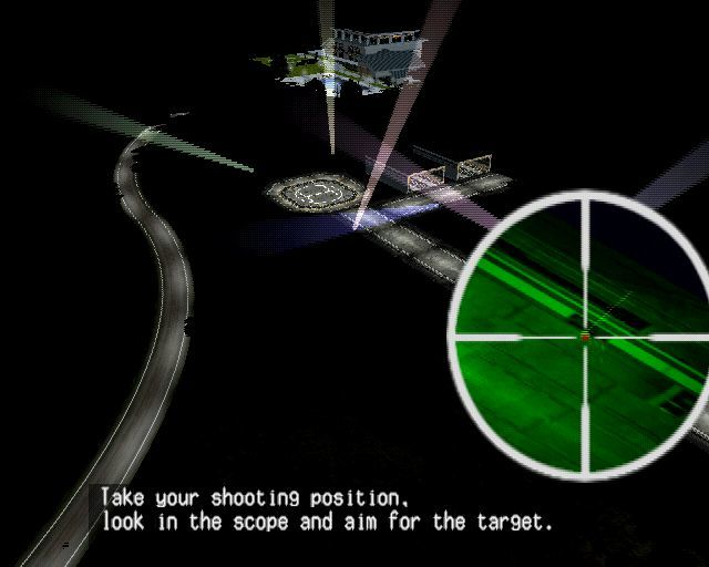 Silent Scope PlayStation 2 There is night sniping to be done too.