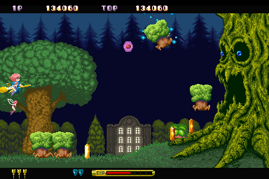 Fantastic Night Dreams: Cotton Sharp X68000 That's one angry tree