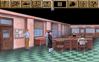 The Dagger of Amon Ra DOS The game starts here. Above is the traditional Sierra interaction menu