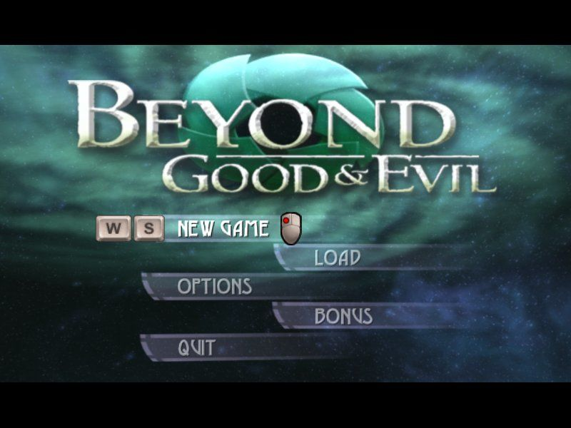 Beyond Good & Evil Windows The mandatory main menu shot