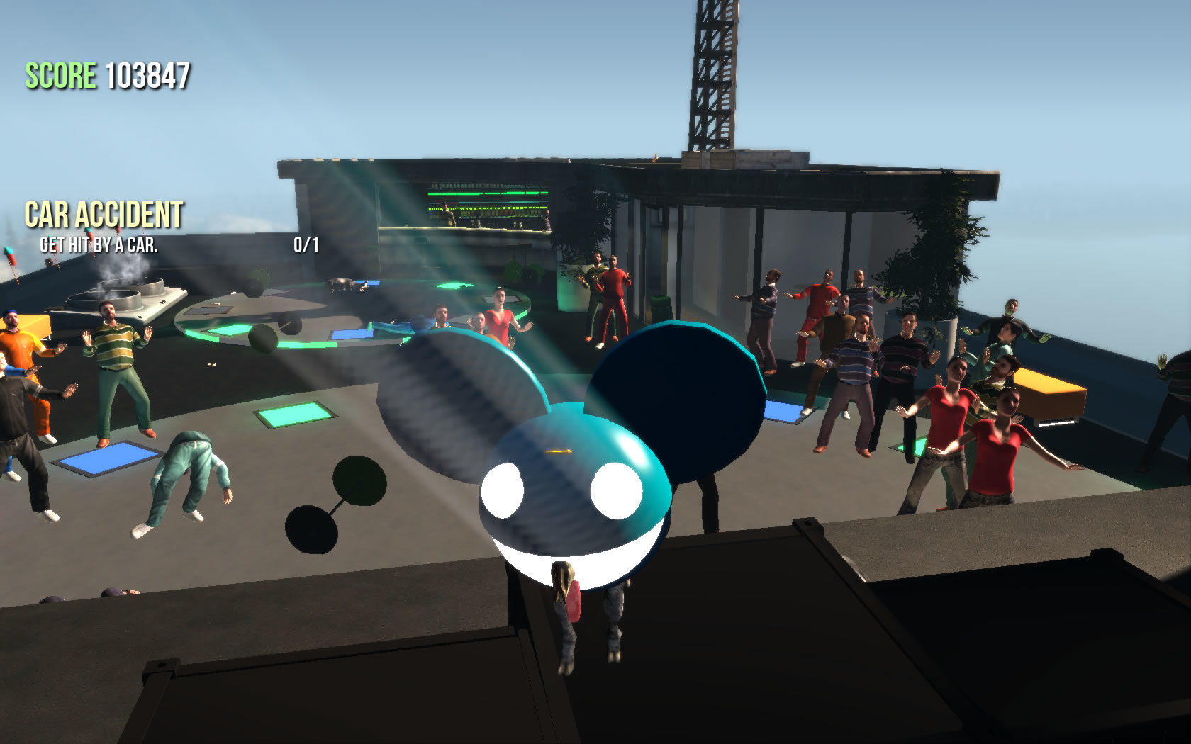 Goat Simulator Windows Knock off Deadmau5 and take over the party.