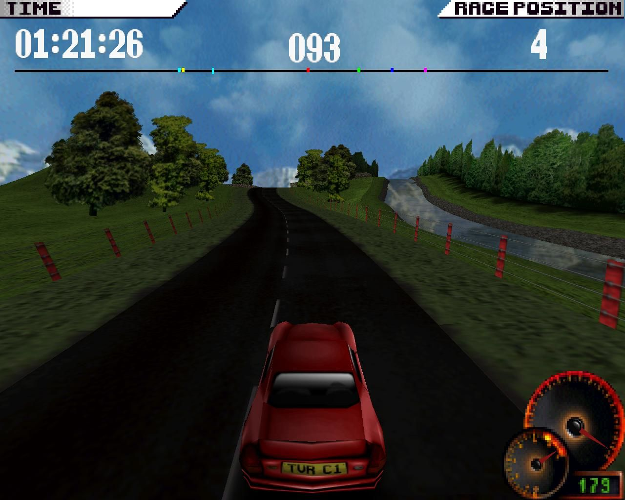Test Drive 4 Windows Scenic riverside driving (3dfx Glide mode)