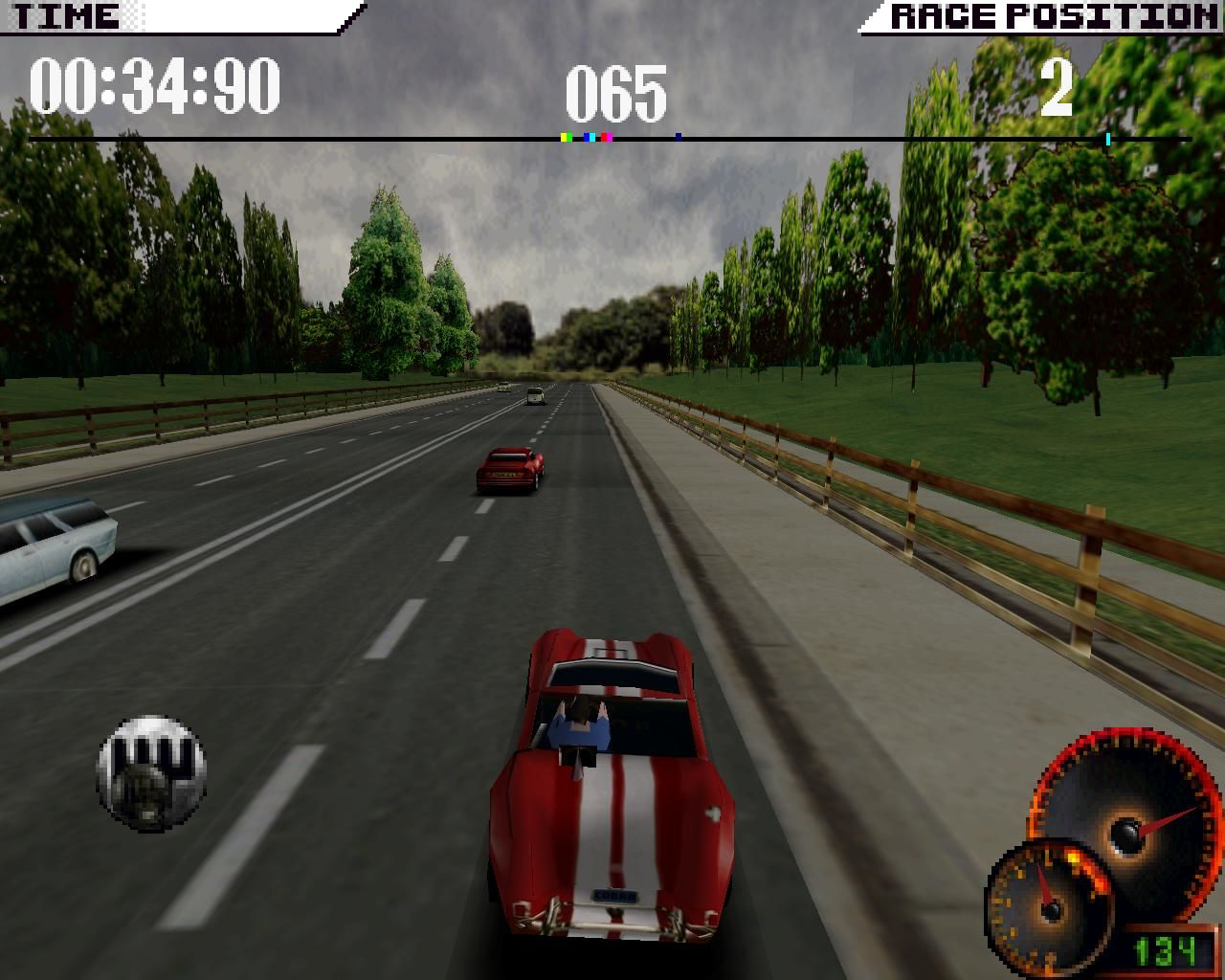 Test Drive 4 Windows Shelby Cobra (3dfx Glide mode)