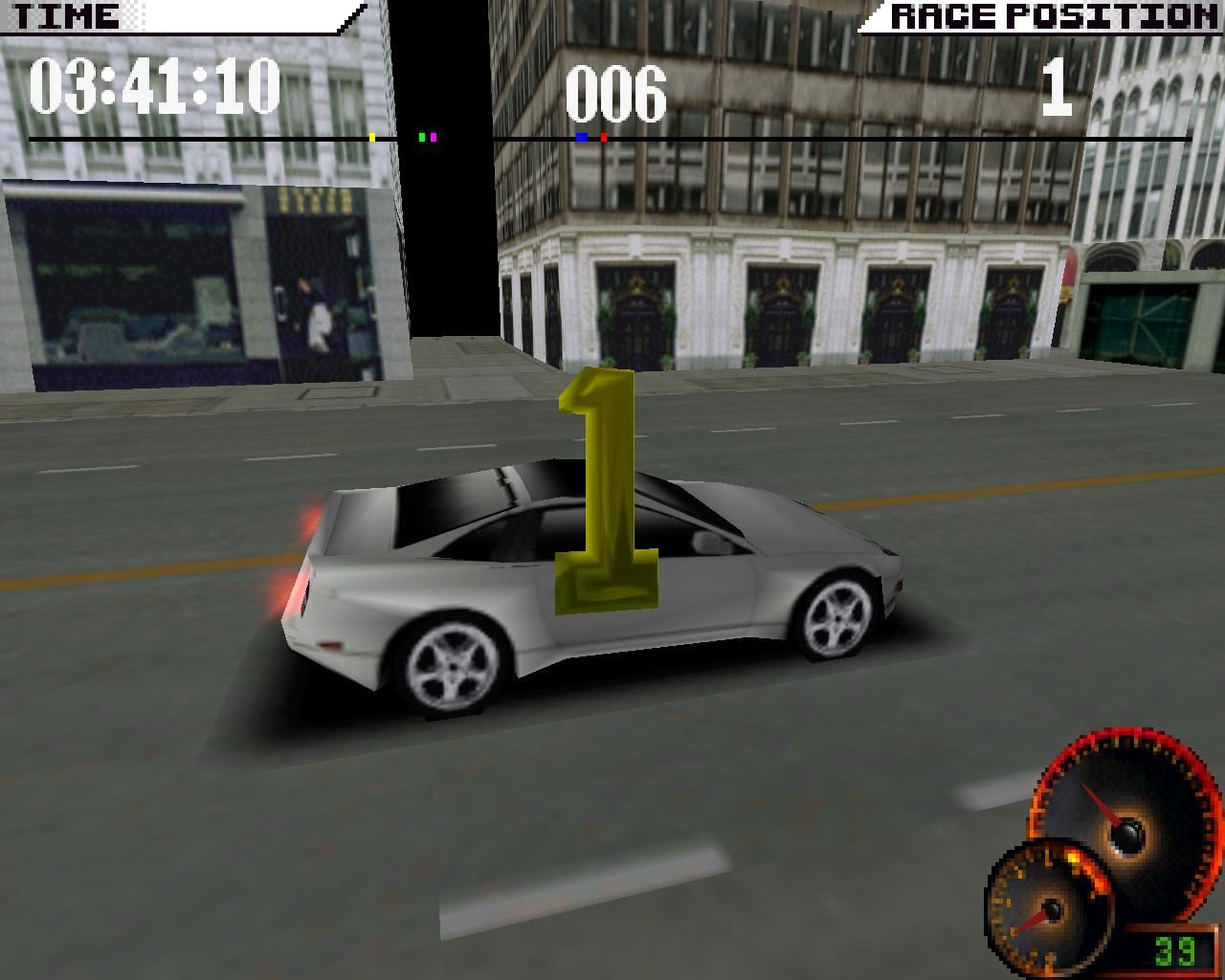 Test Drive 4 Windows Despite what you may have read in the reviews here, I didn't find the game particularly hard. (3dfx Glide mode)