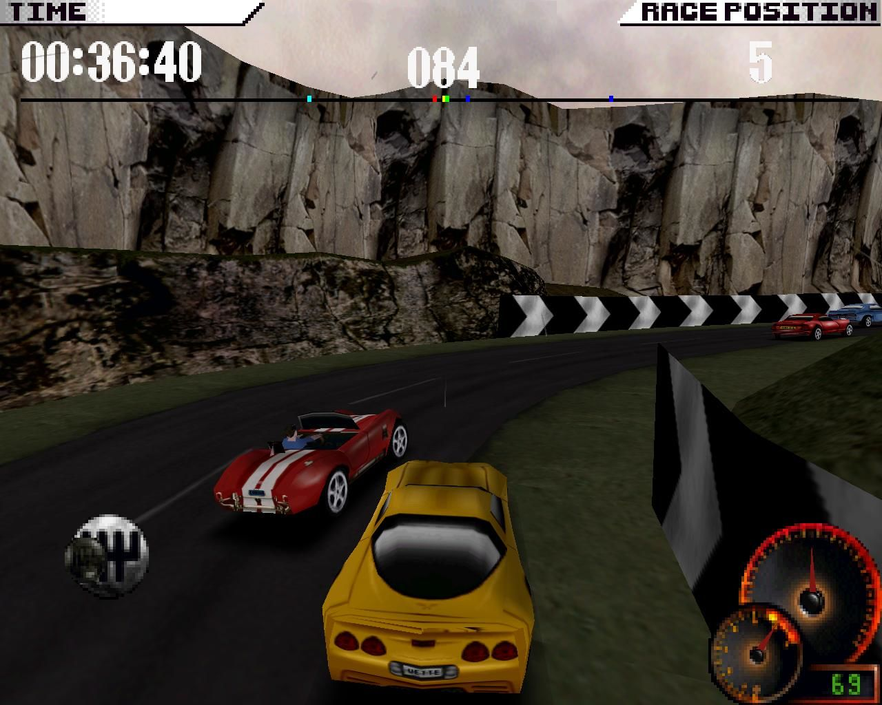 Test Drive 4 Windows The English track is the only track that I can genuinely qualify as challenging... (3dfx Glide mode)