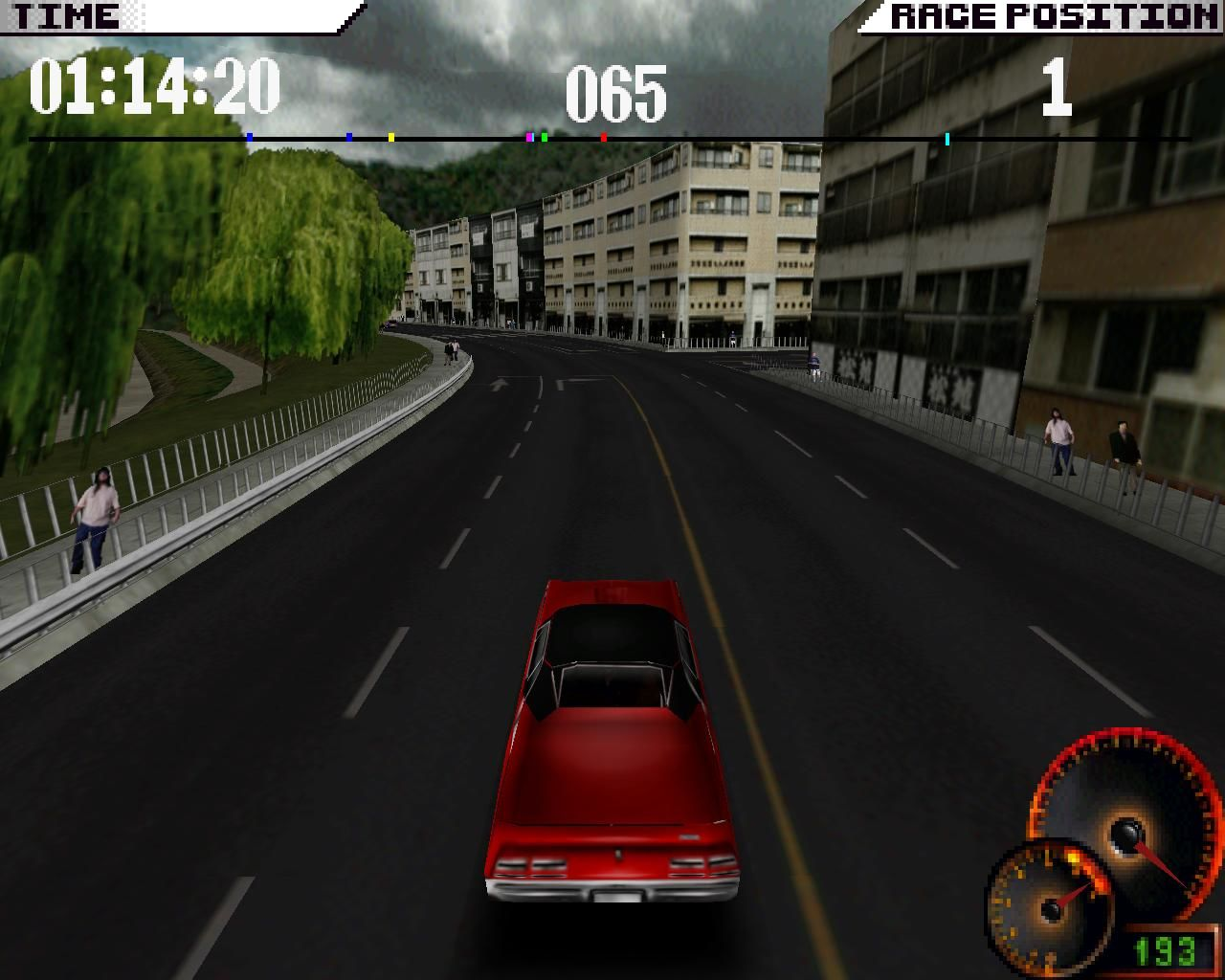Test Drive 4 Windows Light urban (3dfx Glide mode)