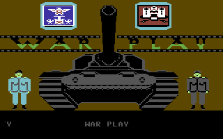War Play Commodore 64 Title Screen.