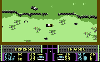 War Play Commodore 64 Controlling a tank.