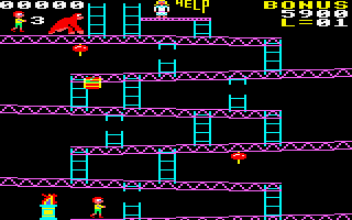 Killer Gorilla Amstrad CPC Lets rescue the girl.