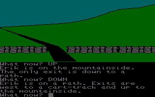 The Saga of Erik the Viking Amstrad CPC On a track.