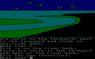 The Saga of Erik the Viking Amstrad CPC On a river bank.