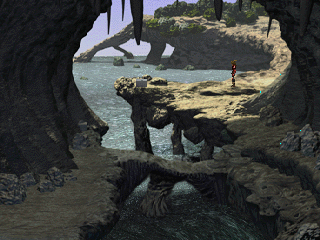 The Legend of Dragoon PlayStation The game's pre-rendered backgrounds offer some nice - if sterile and somewhat artificial - views