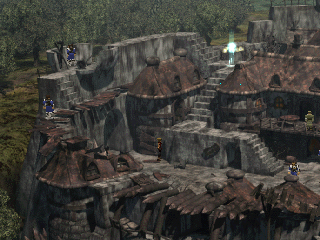 The Legend of Dragoon PlayStation One of the towns you'll visit in the first quarter or so of the game. The game likes zooming out in many locations