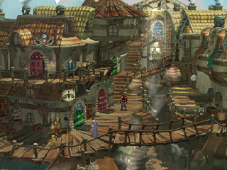 The Legend of Dragoon PlayStation A lovely-looking city - nearing the climax of the game's first part
