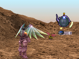 The Legend of Dragoon PlayStation Dragon attacks are handled a bit differently - you'll have to time them as well as measure their power. Haschel here has found his new cool purple identity