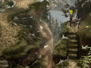 The Legend of Dragoon PlayStation Nice snowy mountain dungeon. Those ugly arrows appear by default, but you can remove them