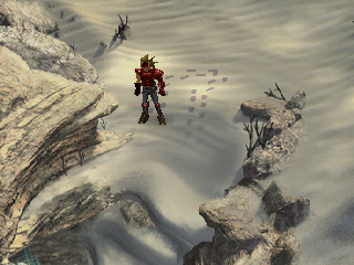 The Legend of Dragoon PlayStation Nice effect - footprints on the sand