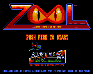 Zool Amiga Title screen
