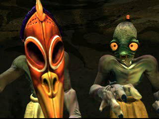 Oddworld: Abe's Exoddus PlayStation The intro shows some shamanic Mudokon rituals...