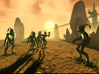 Oddworld: Abe's Exoddus PlayStation ...and beautiful desert scenes rather reminiscent of Moses