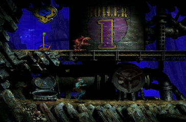 Oddworld: Abe's Exoddus PlayStation The game's first part takes place in mines divided into several large levels. This is the boiler room; Abe is trying to tiptoe, even though the Slog is above