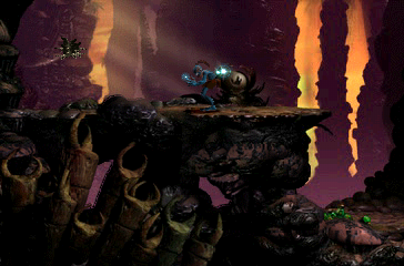 Oddworld: Abe's Exoddus PlayStation Secluded area - chanting in progress, bird portal is opening!..
