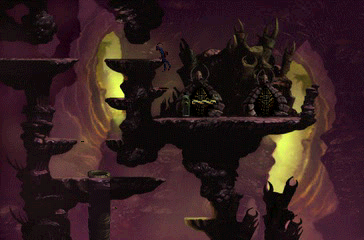 Oddworld: Abe's Exoddus PlayStation Beautiful caves! Abe is hoisting up