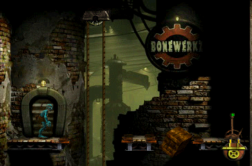 "Oddworld: Abe's Exoddus PlayStation This area of the city reminds of ""slum"" levels"