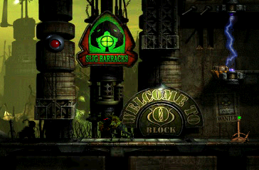 Oddworld: Abe's Exoddus PlayStation Slig Barracks. The game just goes on and on...