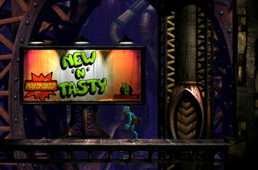Oddworld: Abe's Exoddus PlayStation A familiar advertisement catches your eye