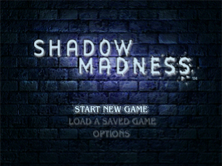 Shadow Madness PlayStation Title screen