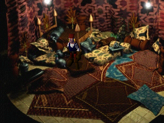 Shadow Madness PlayStation Lavishly decorated rooms aren't uncommon in this game. Wouldn't expect such warm luxury in an ominous tower, though