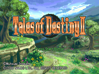 Tales of Destiny II PlayStation Title screen