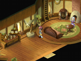 "Tales of Destiny II PlayStation Interior locations are very cozy in this game. This is just one of the many ""unimportant"" houses in an early town"