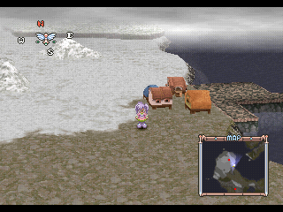 Tales of Destiny II PlayStation The third world map - icy region. Meredy is leading now