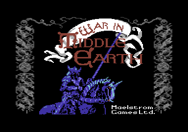 J.R.R. Tolkien's War in Middle Earth Commodore 64 Title screen
