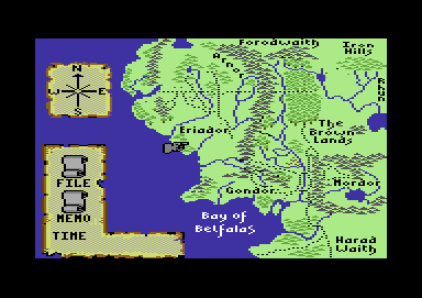 J.R.R. Tolkien's War in Middle Earth Commodore 64 Start of play