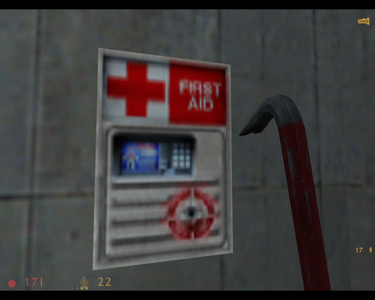 Half-Life Linux Use these to regain health.