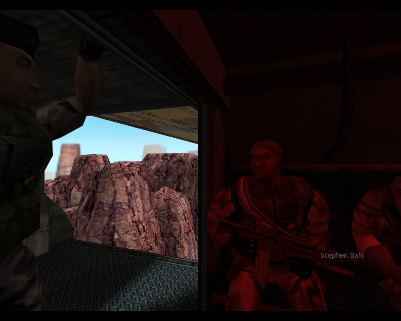Half-Life: Opposing Force Linux Flying in with your fellow soldiers.