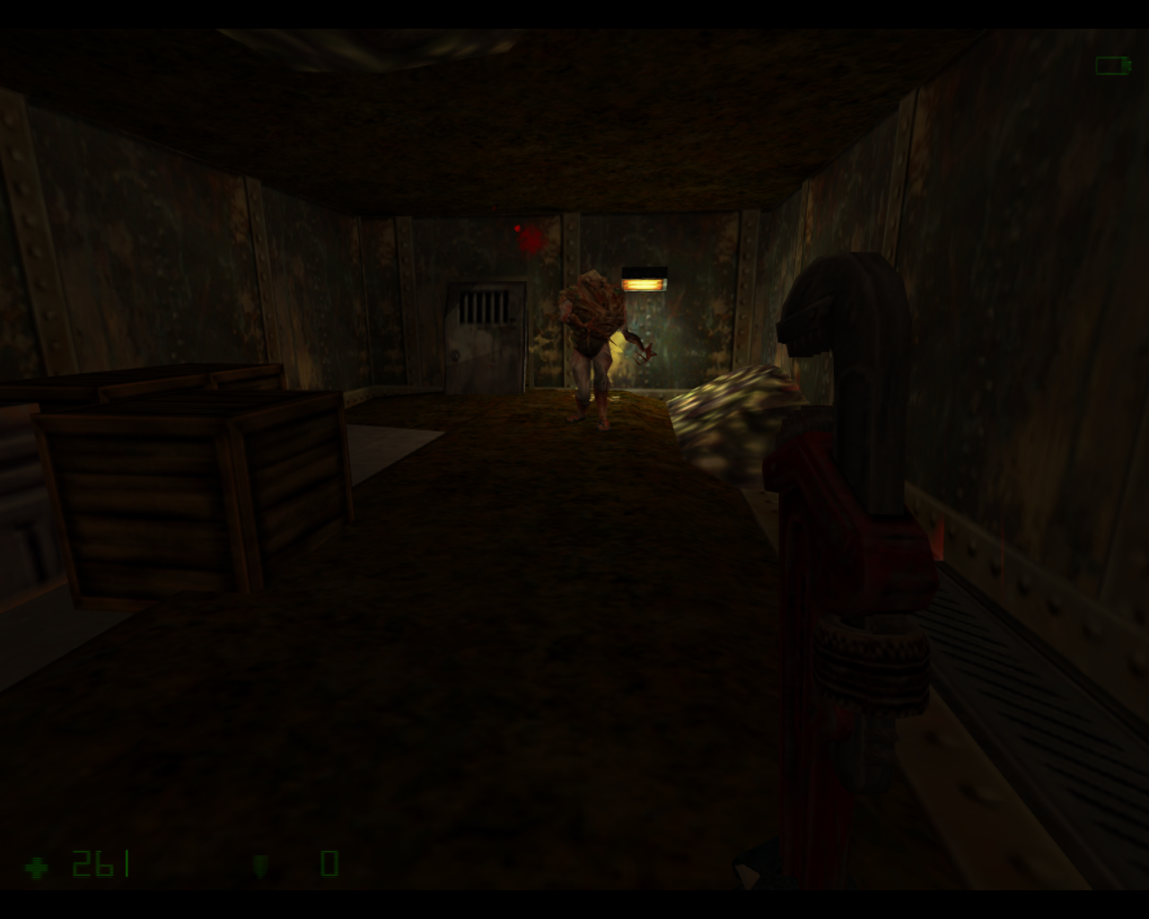 Half-Life: Opposing Force Linux A new type of zombie in this game.
