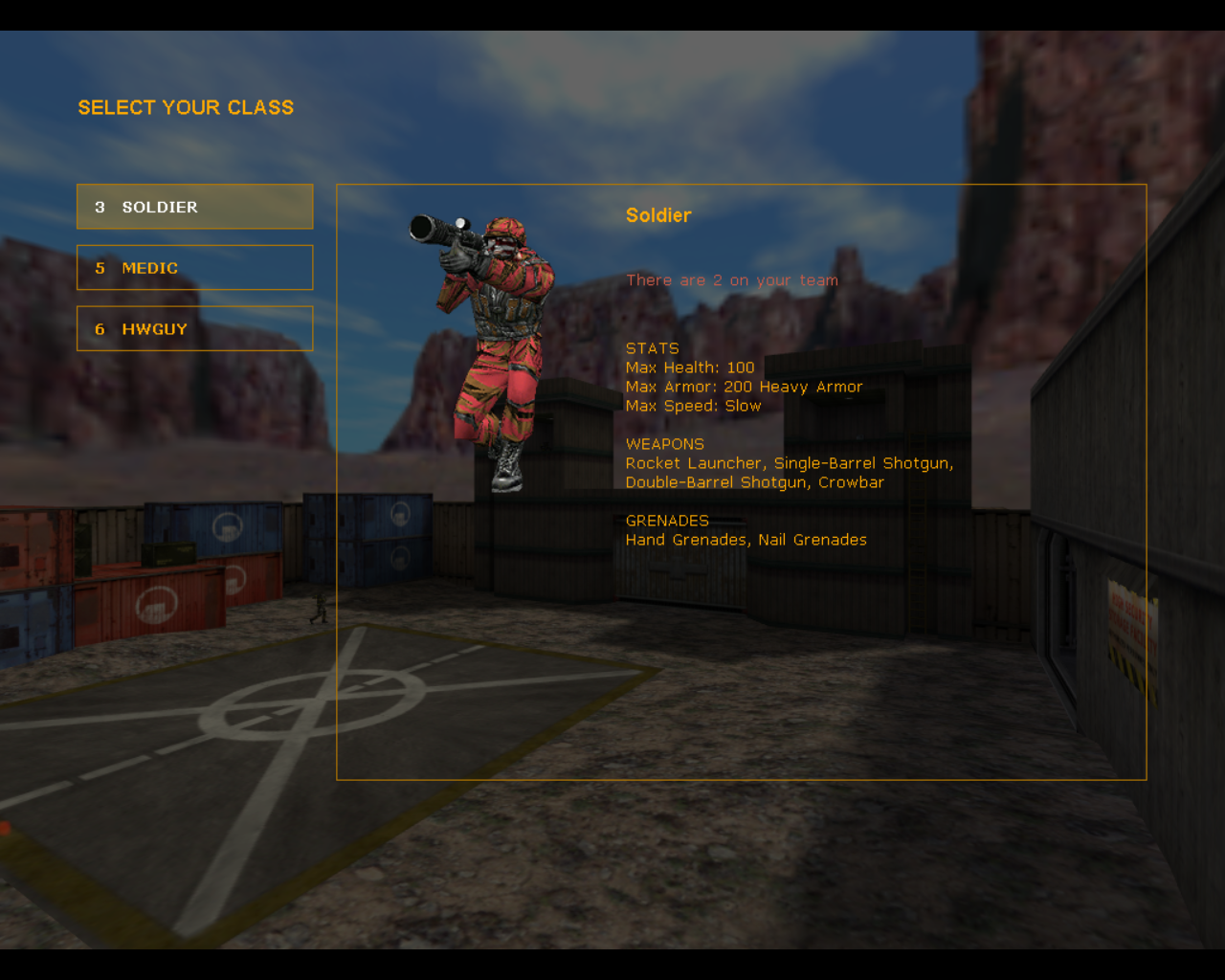 Team Fortress Classic Linux I need to choose what I'll be.