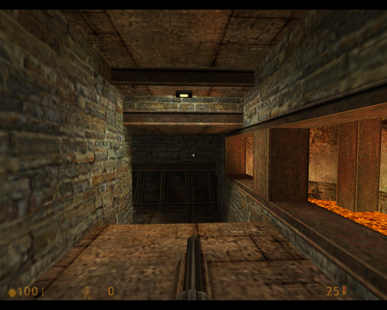 Deathmatch Classic Linux I'm starting with the shotgun.