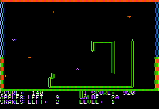 Snake Byte Apple II Waste too much time, and apples get added as a penalty.